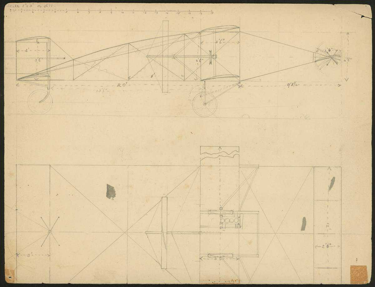 Example of technical drawing, described below